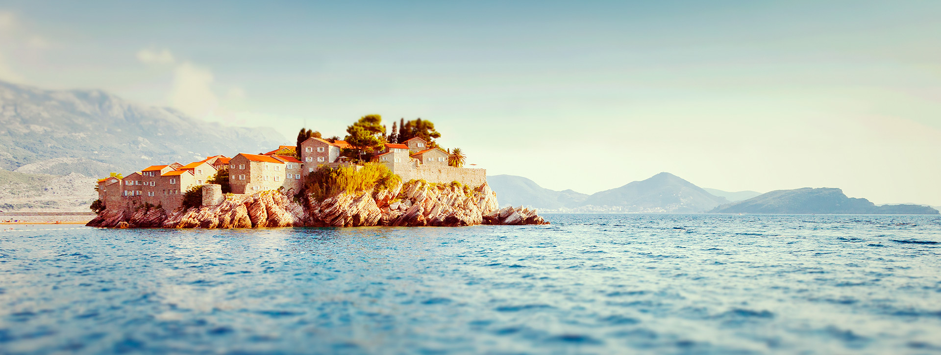 A view of the Sveti Stefan island from the sea, Montenegro - SimpleSail sailing routes