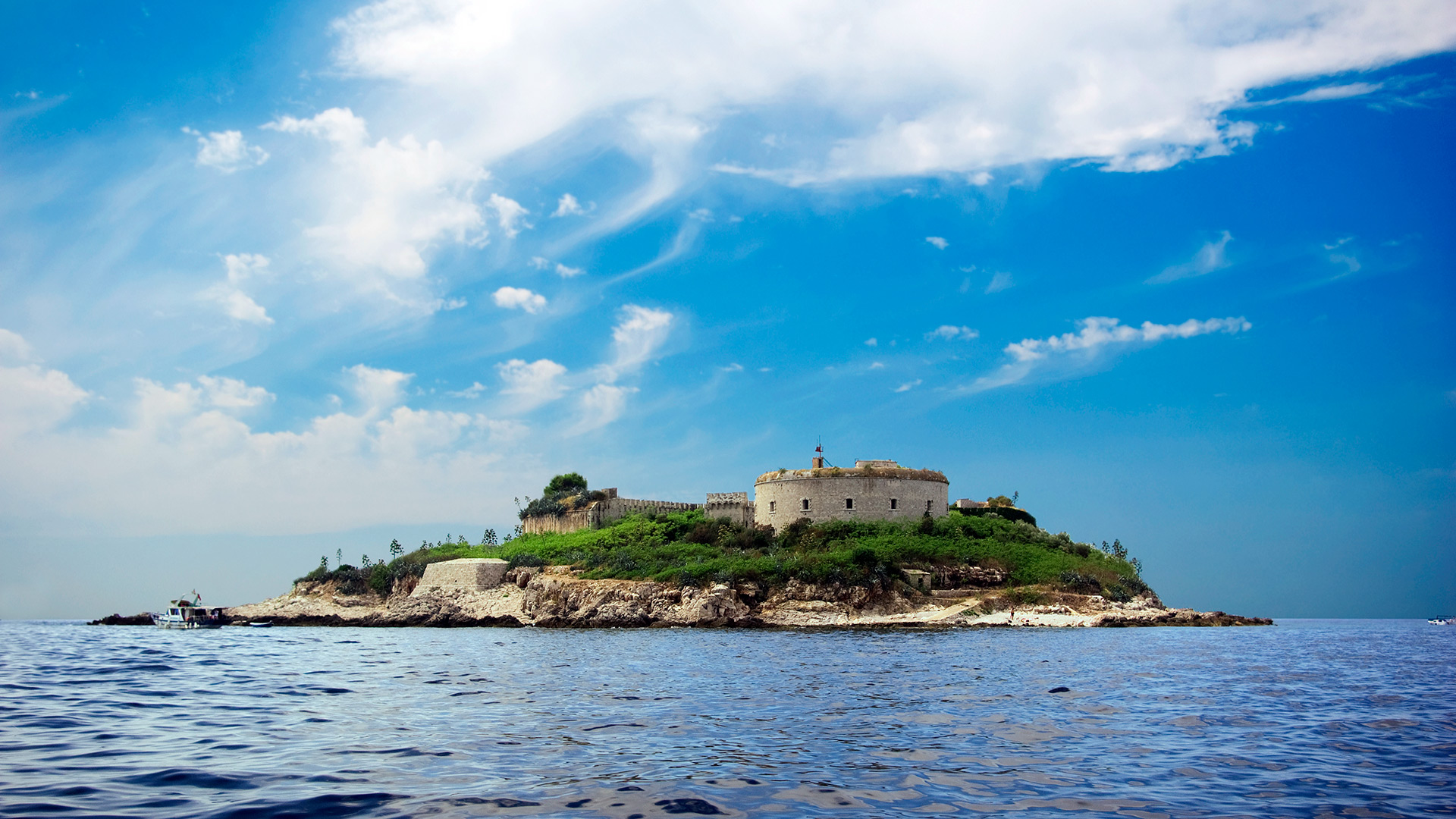 The island Mamula with fort, Kotor Bay, Montenegro - Montenegrin waters SimpleSail sailing routes