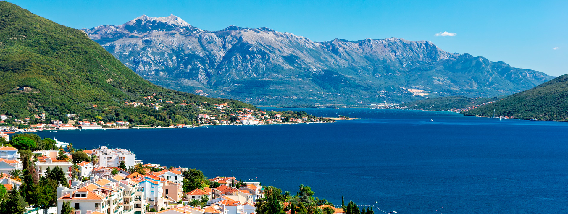 View of the Bay of Kotor, Herceg Novi, Montenegro - Adriatic sailing routes of SimpleSail