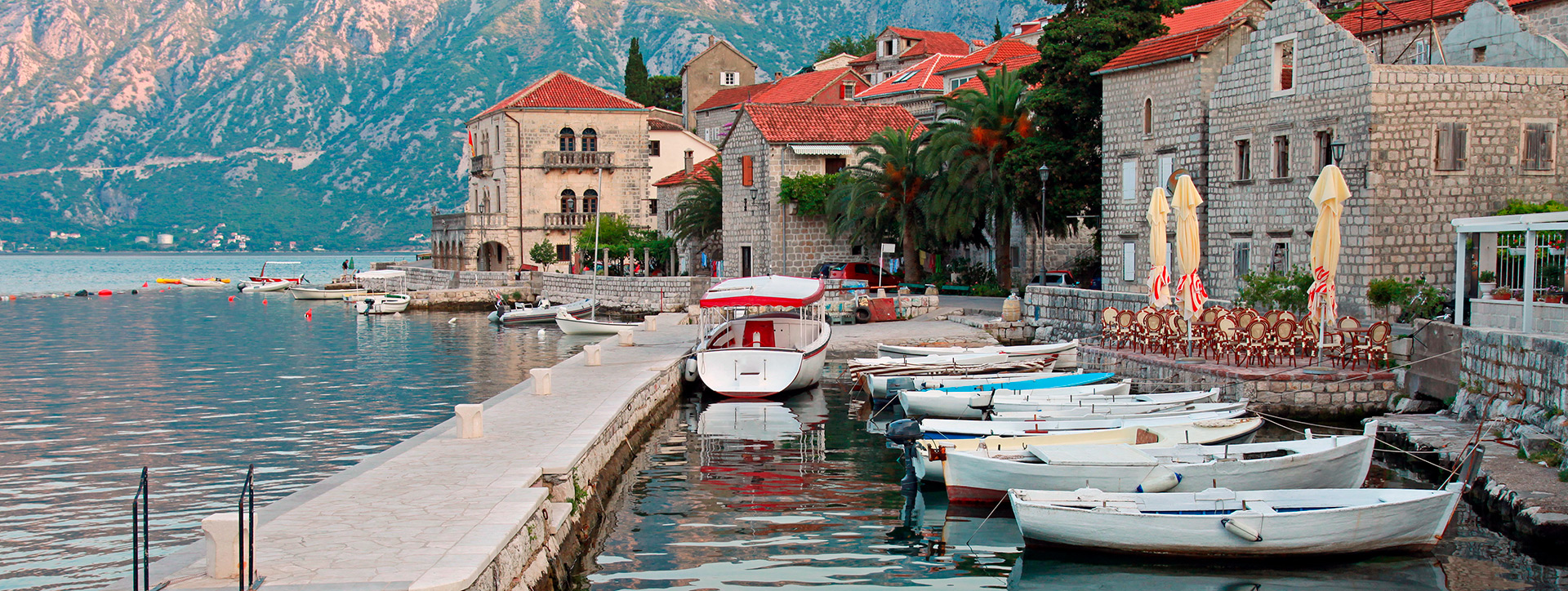 Boat parking, Perast, Montenegro - SimpleSail sailing routes