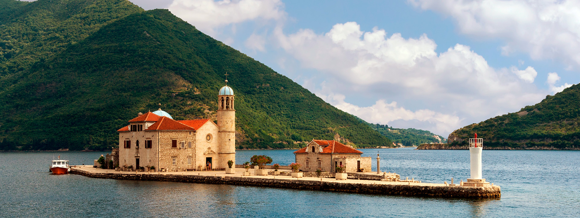 The island of our lady on the rocks, Kotor Bay, Montenegro