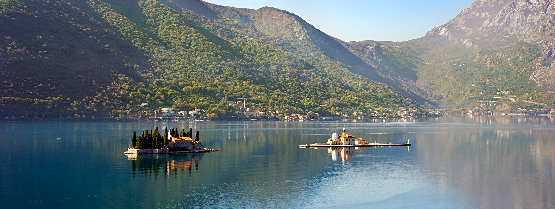 The Islands of St. George and Virgin on the Reef, opposite Perast, Montenegro