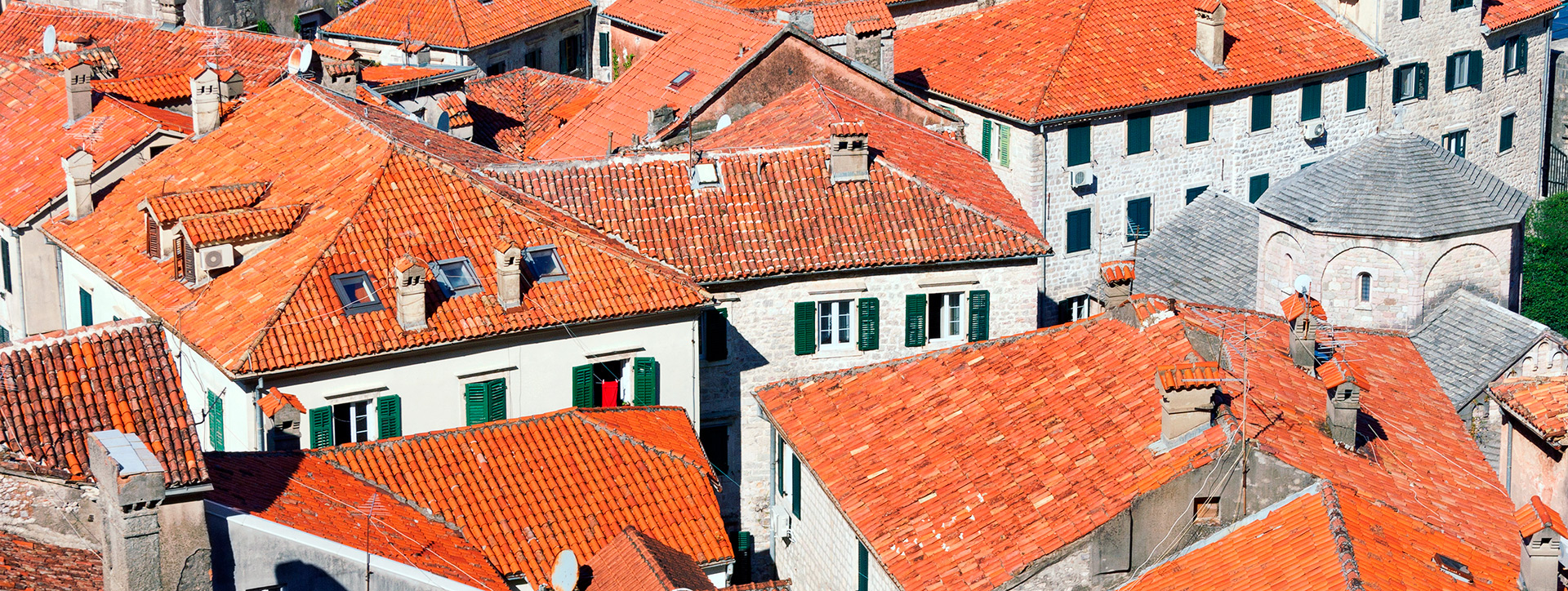 The rooftops of the city, Perast, Montenegro - SimpleSail sailing routes