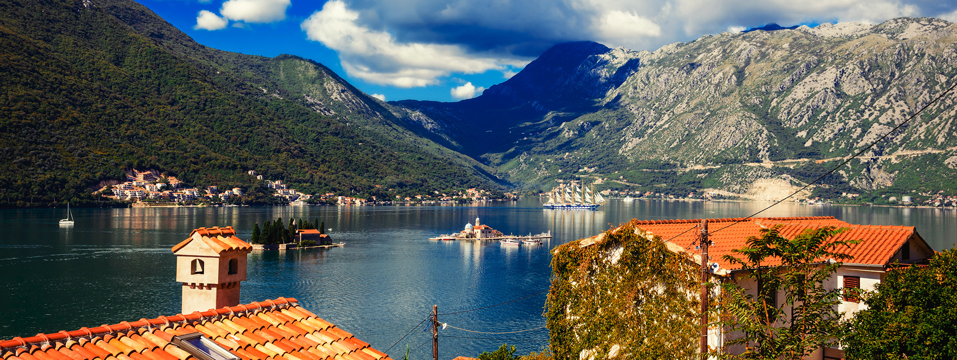 The Islands of St. George and Virgin on the Reef, opposite Perast, Montenegro - Adriatic sailing routes of SimpleSail
