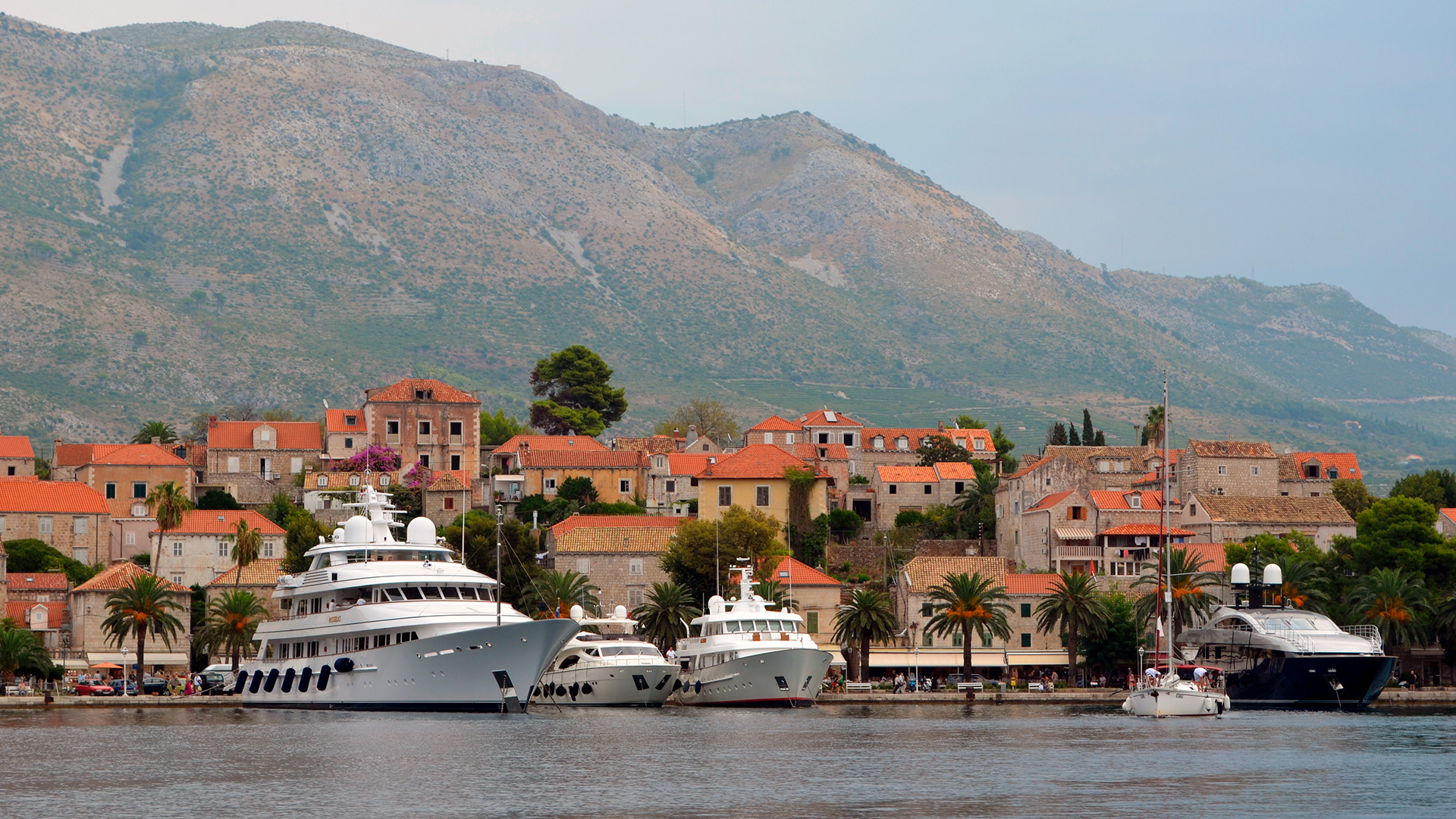 Yacht parking, Cavtat, Croatia