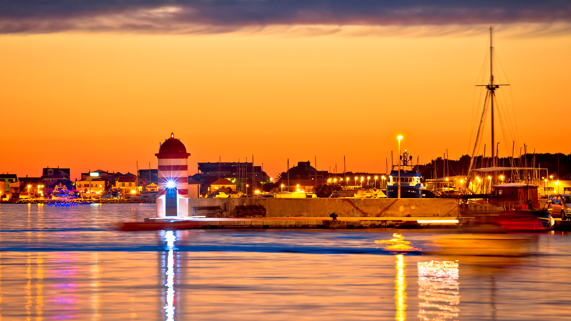 The harbour in the evening light, Zadar, Croatia - Adriatic sailing routes of SimpleSail