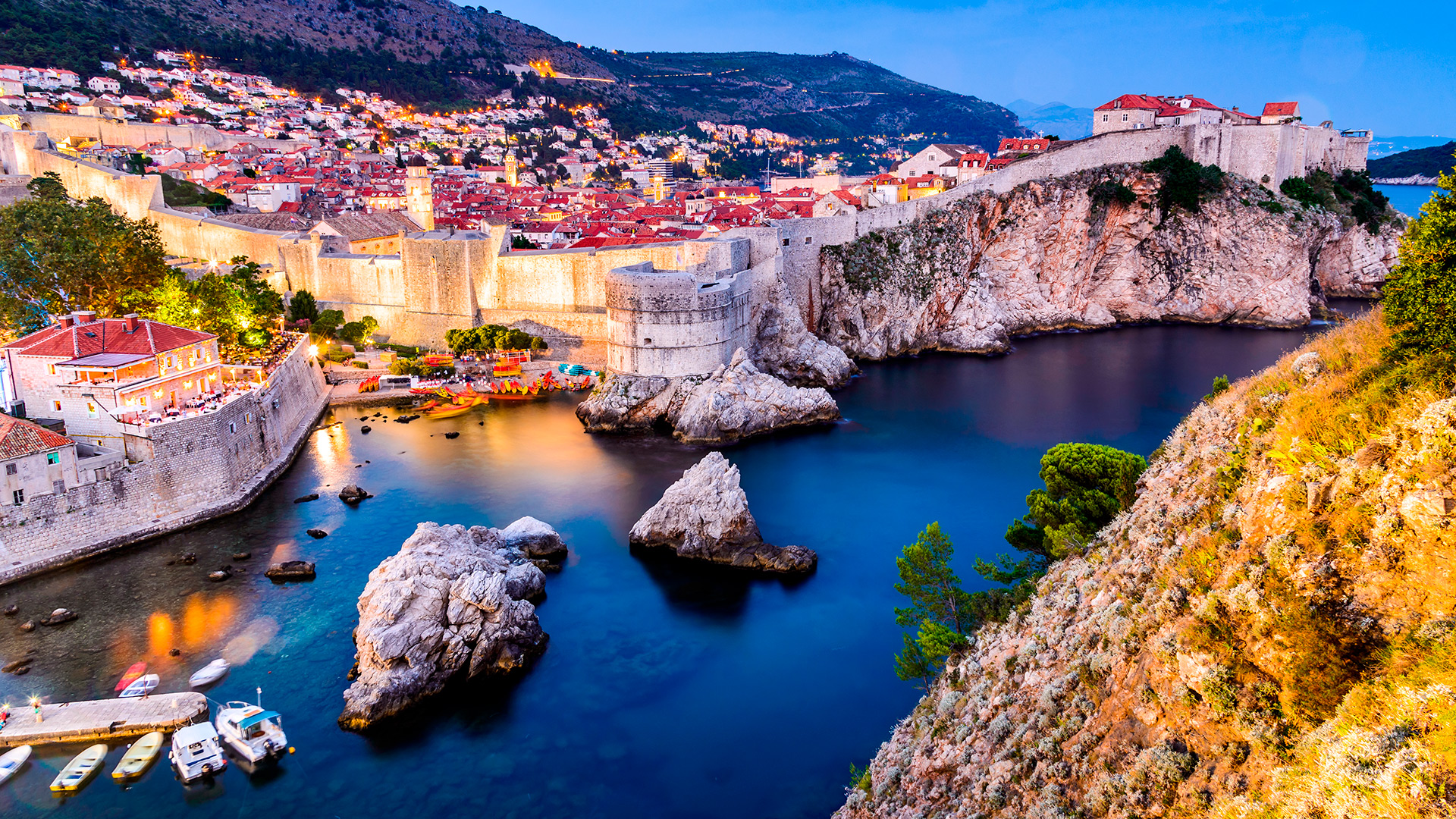 Dubrovnik - southern Dalmatia centre in the evening light, Croatia