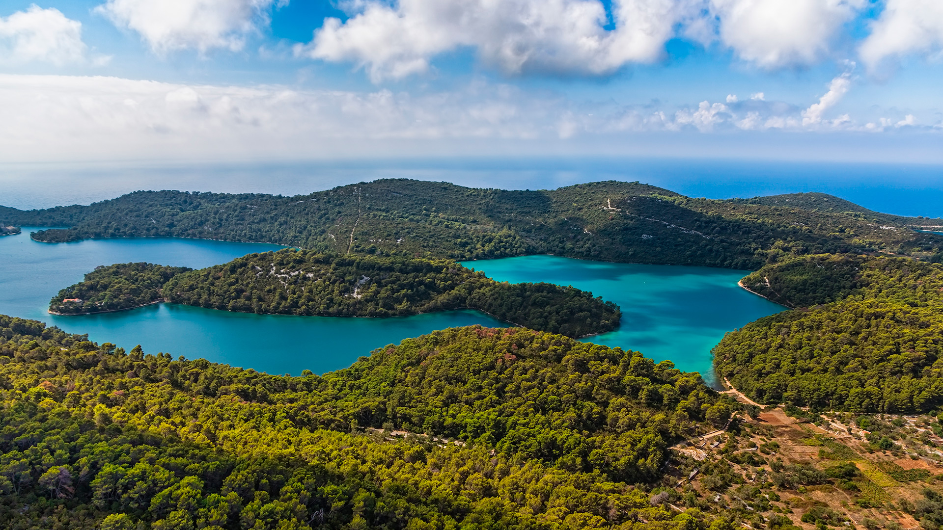 The Veliko lake, Mljet, Croatia - Adriatic sailing routes of SimpleSail