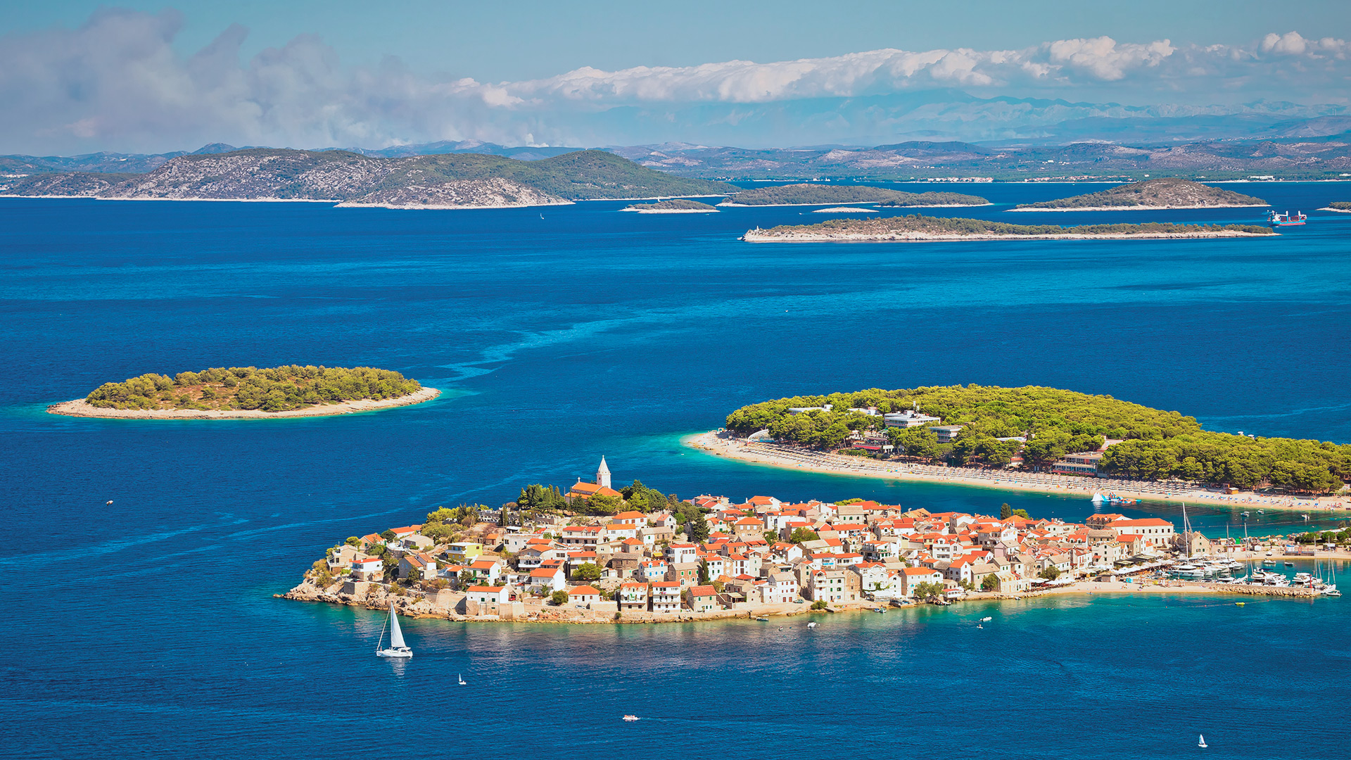 View of the islands, Primošten, Croatia - SimpleSail sailing routes