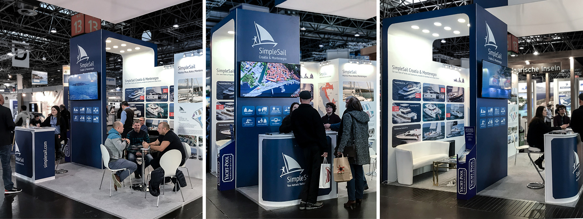 SimpleSail booth on BOOT Dusseldorf