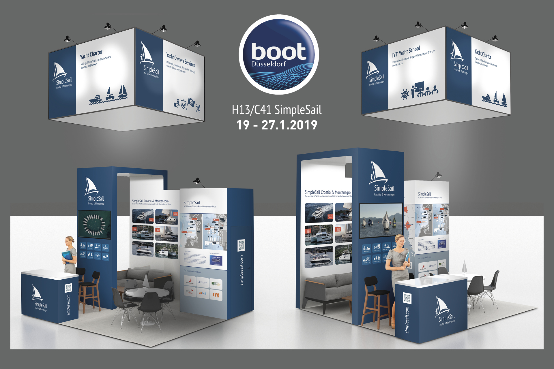 SimpleSail stand on BOOT Dusseldorf 2019