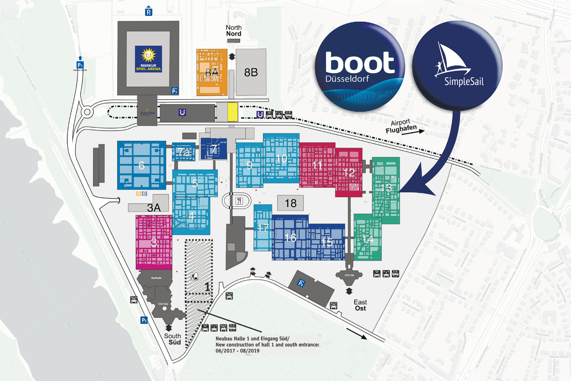 SimpleSail Stand on BOOT Dusseldorf 2019, exhibition plan
