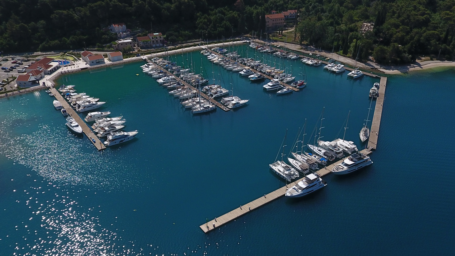 Marina in the town of Slano, the Base SimpleSail, Croatia