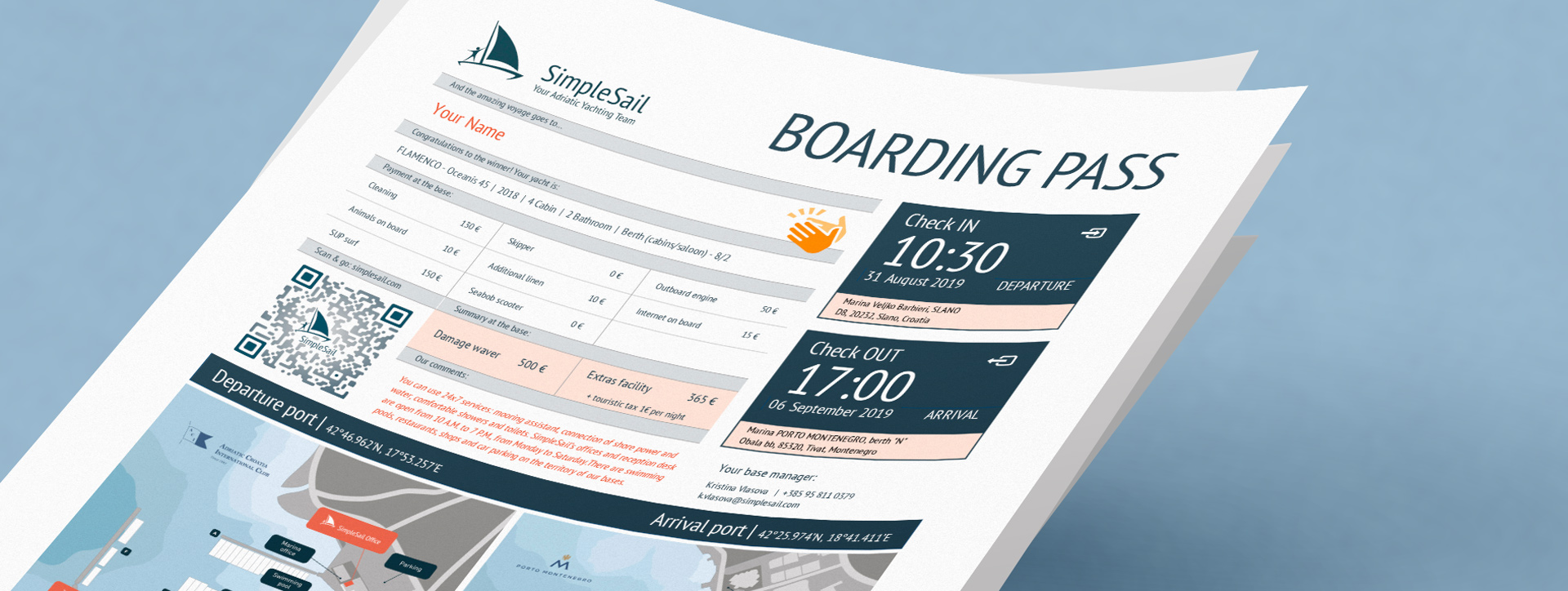SimpleSail Boarding Pass