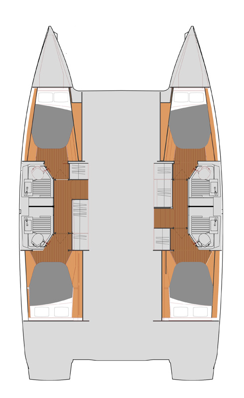 Fountaine Pajot Astrea 42 - Layout