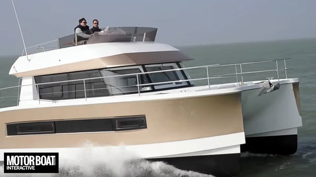 Fountaine Pajot MY37 test report by Motor Boat & Yachting
