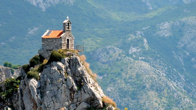 Chapel on the island of Saint Week, Petrovac, Montenegro