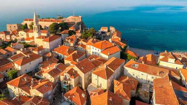 The view from the heights of the Old town, Budva, Montenegro - Adriatic sailing routes of SimpleSail