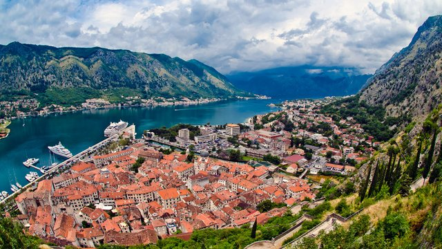 Kotor - the view of the city and the Bay of Kotor, Montenegro - Adriatic sailing routes of SimpleSail