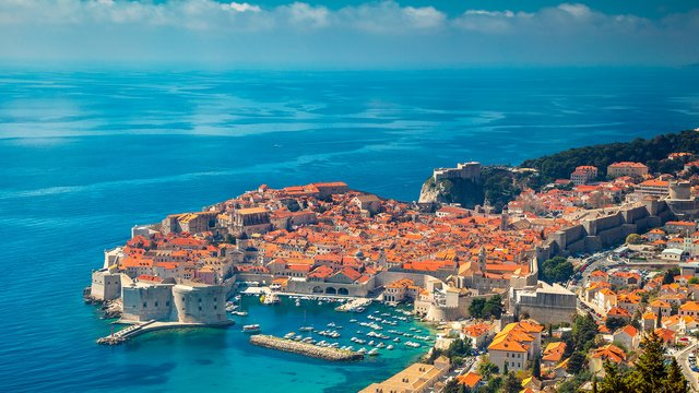 Old town and harbour, Dubrovnik, Croatia - Croatian waters SimpleSail sailing routes