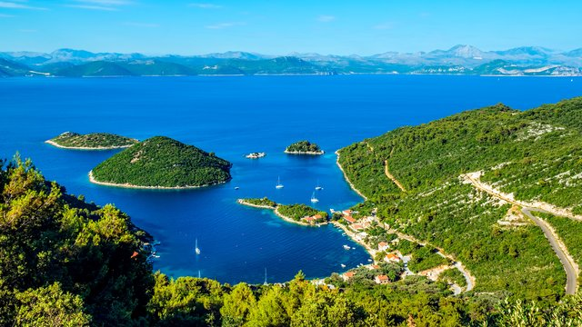 The view from the island of Mljet on Panak and Borovac islands, Croatia - Adriatic sailing routes of SimpleSail