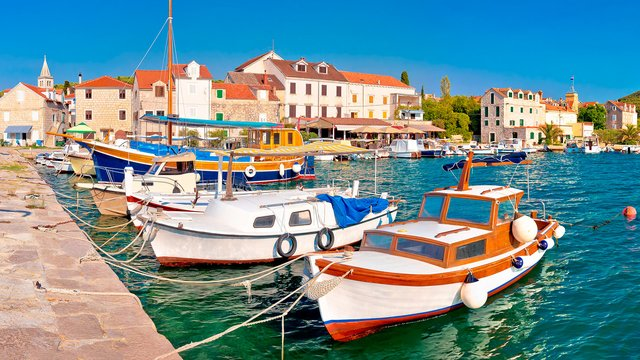 Boats near the waterfront, Zlarin island, Croatia - Croatian waters SimpleSail sailing routes