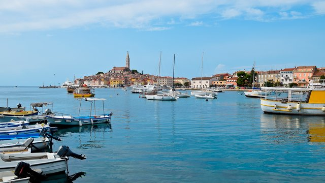 The city's harbour, Rovinj, Croatia - Adriatic sailing routes of SimpleSail