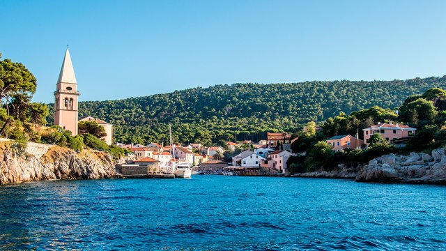 The town of Veli Lošinj, Lošinj island, Croatia