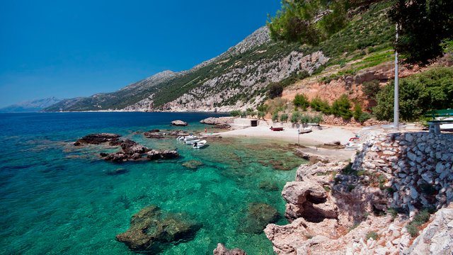 Mountainous coast, the peninsula Pelješac, Croatia - Croatian waters SimpleSail sailing routes