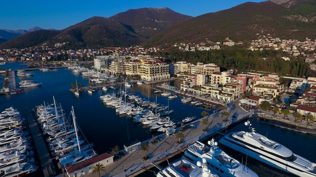 Boats and yachts by the pier, Tivat, Montenegro - SimpleSail sailing routes