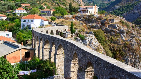 The aqueduct at the foot of mount Rumija, Bar, Montenegro - Montenegrin waters SimpleSail sailing routes