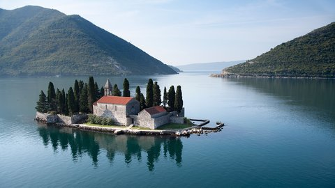 Sveti Đorđe - island of St. George, opposite Perast, Montenegro - Montenegrin waters SimpleSail sailing routes