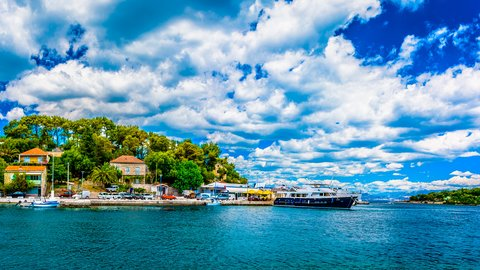 The view from the port of Rogač town, Šolta island, Croatia - Adriatic sailing routes of SimpleSail