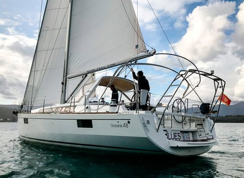 Beneteau Oceanis 48 | Blues <br> 5 Cabins, 3 Bathrooms